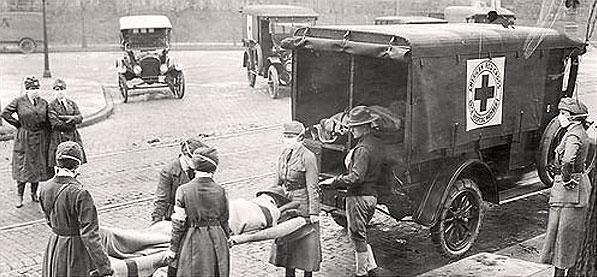 Katonai járványkocsi az első világháború végén