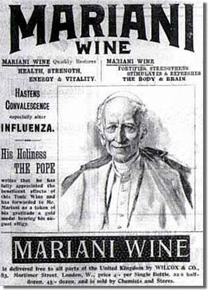 Pápai kábszer: Mariani-bor, a Coca-Cola mámor előszele...