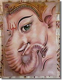Ganésa, a hinduizmus egyik legismertebb és legnépszerűbb elefántfejű, embertestű istensége, az új vállalkozások patrónusa...