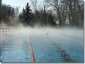 A Dagály egyedülálló 50 méteres téli-szabadtéri úszómedencéje...