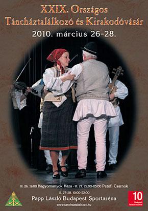 A Táncháztalálkozó és Kirakodóvásár plakátja